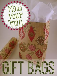 DIY Gift Bags Made From Wrapping Paper! These are perfect for those odd size, odd shaped gifts. Cheap too!