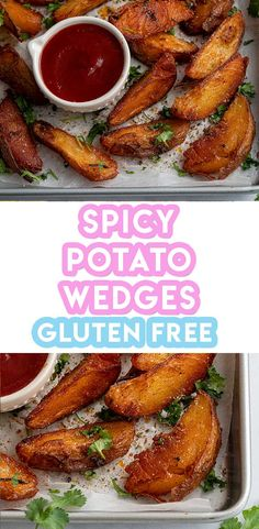 This is my BEST EVER recipe, it's easy to make and it's vegan, gluten free and low FODMAP too. Spicy Potato Wedges, Potato Wedges Recipe, Fodmap Recipes, Vegan Recipes, Snacks Recipes, Potato Recipes, Free Recipes, Muffaletta Recipe, Side Dish Recipes