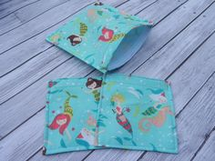 Set of 3 Reusable Lunch Bags Sandwich bag and 2 by ChestnutDesigns, $12.00
