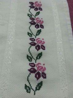 Blackwork Cross Stitch, Cross Stitch Borders, Cross Stitch Flowers, Cross Stitch Designs, Cross Stitching, Cross Stitch Patterns, Cross Designs, Embroidery Designs, Beaded Embroidery