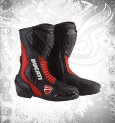 MotoGPGears Ducati Bottes de Moto en Cuir