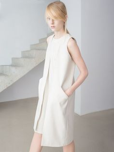 This Is Non: Raw Silk Collection - The Clothes Maiden Look Fashion, Fashion Outfits, Womens Fashion, Fashion Design, Long Vests, Minimal Fashion, Simple Dresses, Dress Me Up, Dress Collection
