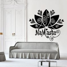 Wall Decal Decor Decals Sticker Art Design Vinyl Namaste Lotus Flower Symbol Fertility Life Inscription India Spirituality Eternity (M1134) DecorWallDecals http://www.amazon.com/dp/B00KEJV8SA/ref=cm_sw_r_pi_dp_HPV2ub0G1VS77