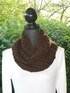 Infinity Eternity Cowl Neck Warmer Scarf by ClusterCrochet on Etsy, $29.00