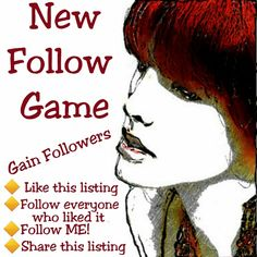 Follow Game - Let's Grow Together Like this listing. Follow all those who liked this listing.  Don't forget to follow your host - ME. I promise to follow you back. Then share the listing to your followers. Why not tag some PFFs and help all of us grow our followers together! Wildfox Other