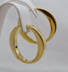 Gold Hoop Earrings Hoops Roberto Coin Jewelry Branding Designer Fine Design Drop