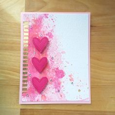 Double Stitched Hearts by Melissa Rusk (Outside The Box - Dave Beathauer) Memories Box, Diy Valentines Cards, Love Valentines, Distress Oxides, Distress Ink, Craft Stick Crafts, Paper Crafts, Kunst Shop, Heart Cards