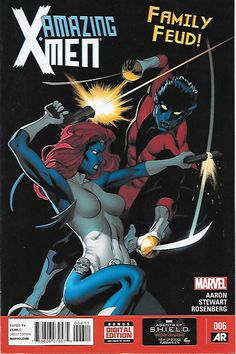 All in the Family: Part 1 _Written by Jason Aaron. Art Cameron Stewart and Rachelle Rosenberg , Cover by Ed McGuinness , ..Nightcrawler is back at the Jean Grey School!But when Mystique comes calling,