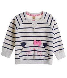 Blusão Infantil Listrado em Moletom - Tam 1 a 4 anos - Lojas Renner