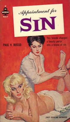 Appointment for Sin by Paul V. Russo | The things this blonde does, hey? | #pulp #fiction