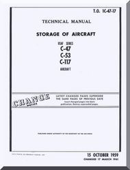 Douglas C-47 C-53 C-117  Aircraft Storage Manual - 1C-47-17 - 1959
