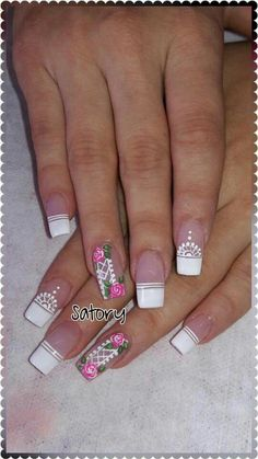 Jelly Nails, Fancy Nails, Nail Art Galleries, White Nails, Spice Things Up, You Nailed It, Girly Things, Pedicure, Nail Art Designs