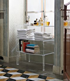 Share and get a 10% off coupon code! Free Standing Acrylic Lucite Bathroom Furniture Cabinet
