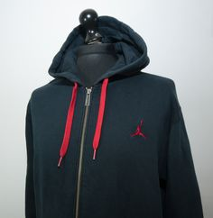 110686e8fe8b Nike Air Jordan Hoodie Large L Mens Full Zip Black Hooded Sweatshirt Jacket  XL