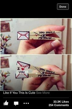 Cute Way to Tell your crush That you like them;)