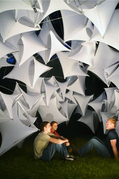 Gallery - Students of Ball State Construct Parametric Tensegrity Structure for Local Art Fair - 4
