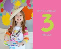 Art Themed 3rd Birthday Party via KARA'S PARTY IDEAS KARASPARTYIDEAS.COM The Place for All Things Party! Cake, decor, printables, favors, and more! #art #artparty #artpartysupplies #karaspartyideas #girlparty #artsupplies #artcake #partyplanning (4)