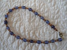 Summer Purple Brown and Yellow Anklet by LandofBridget on Etsy, $8.00