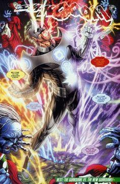 Kyle Rayner Green Lantern joins all the corps . Red Lantern Corps, Kyle Rayner Green Lantern, Hq Marvel, Marvel Funny, Arte Dc Comics, White Lanterns, Black Lantern, Drawn Art, Mundo Comic
