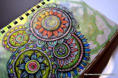 Color come to life on these sketchbook Mandalas (Wisdom Circles) by Dion Dior & More ...
