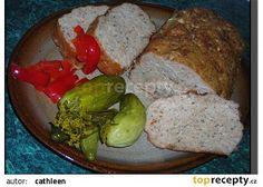 Sekaná z domácí pekárny recept - TopRecepty.cz Meatloaf, Banana Bread, Pork, Cooking Recipes, Sweets, Baking, Program, Desserts, Kale Stir Fry