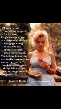 Love this quote & Marilyn too. ❤️