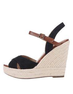 Pepe Jeans - Černé dámské sandálky na platformě a klínku - 1
