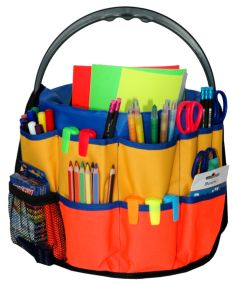 Art-Bucket - a Compact High Quality Canvas Organiser and Storage solution to fit a standard 10 Litre plastic bucket for your child's existing and new art supplies at home. Art Supplies Storage, Craft Storage, Storage Buckets, Plastic Buckets, Organization Hacks, Organizing, Art Station, Crafty Kids, Toddler Fun