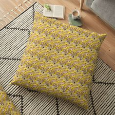 Promote | Redbubble Throw Pillows, Yellow, Home, Toss Pillows, Cushions, Ad Home, Decorative Pillows, Homes, Decor Pillows