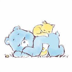 Sanrio, Care Bears Vintage, Fanart, Bear Wallpaper, Bear Art, Snoopy, Good Good Father, Cute Cartoon, Bedtime