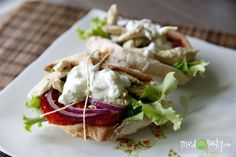 Rhodes Chicken Gyros with Tzatziki Sauce