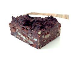 Lækker Banan Brownie opskrift - uden sukker og gluten! Nyd med rigtig god samvittighed!