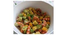Salade de crevettes , mangue et avocats, une recette de la catégorie Entrées. Plus de recette Thermomix® www.espace-recettes.fr
