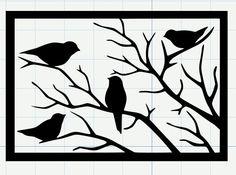 Birds on a Branch - free SVG cut file