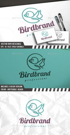 Bird Line Logo — Vector EPS #flying #church • Available here → https://graphicriver.net/item/bird-line-logo/14278065?ref=pxcr