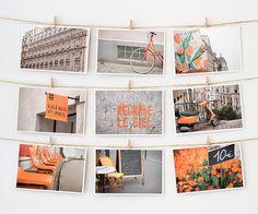 Paris in orange