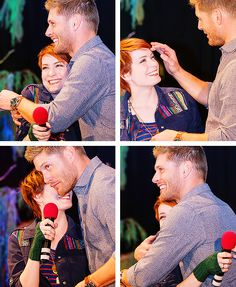 Jensen and Felicia #BurCon2013 - May be getting cavities over here from all of the sweetness that is these two :)
