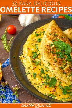 33 Easy Delicious Omelette Recipes These easy omelette recipes make delicious, one-dish meals. It only takes a few minutes to make a home-cooked, healthy, low carb meal for breakfast, lunch or dinner with these awesome omelette ideas. Omelette Muffins, Breakfast Omelette, Cheese Omelette, Easy Healthy Recipes, Easy Meals, Omelete Recipes, Healthy Omlet Recipes, Asian Recipes, Easy Egg Recipes