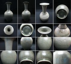 """A Tang Yue Kiln carved Celadon Porcelain Vase with five-clawed dragon Tang Dynasty 唐越窯秘色青瓷劃花五爪龍紋弦紋長頸撇口瓶    http://orionwebmuseum.blogspot.com  http://taiwanwebmuseum.blogspot.com  http://orionandhsu.blogspot.com  http://www.flickr.com/photos/orionmuseum/   Hello! Your beautiful works of art are invited to join a public Facebook group """"Fine Art to Sell"""" :  https://www.facebook.com/groups/fine.art.to.sell/"""