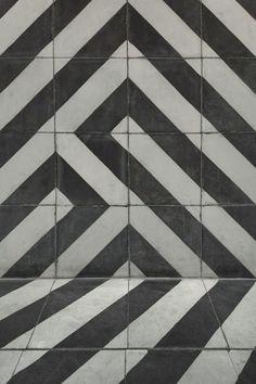 Monochrome encaustic tiles