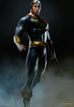 Dwayne-Johnson-aka-The-Rock-as-Black-Adam-DC-Shaza by vshen on DeviantArt