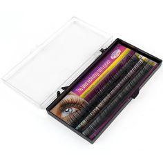 Fashion New 0.10 C volume Encryption Natural Long False Eyelashes Eye Lashes Mix Length 8mm/10mm/12mm