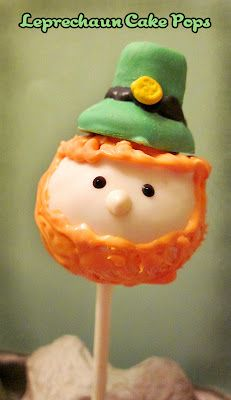 Leprechaun Cake Pops - my friend, Devi, made these for our girls' kindergarten class. They are so cute & yummy too!