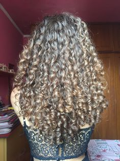 Pinterest::BriaAngelique Grey Curly Hair, Curly Hair Tips, Wavy Hair, Curly Hair Styles, Curly Hair Routine, Permed Hairstyles, Hair Health, Hair Journey, Perms