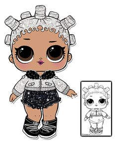 Glitter Fresh Coloring Page – LOL Surprise Doll Coloring Pages Coloring Pages For Girls, Cool Coloring Pages, Animal Coloring Pages, Coloring Books, Paper Bag Album, Baby Binky, Doll Party, All Pokemon, Lol Dolls