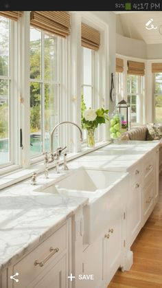 I love all the windows in a kitchen.