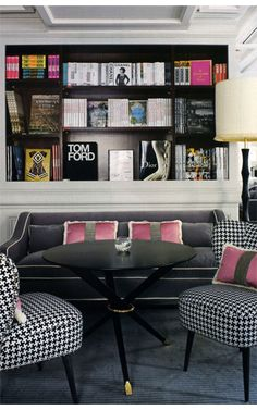 Houndstooth and a hint of pink