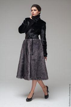Верхняя одежда ручной работы. Заказать А006. Шуба комбинированная из меха под мутон и лисицу.. Анастасия Волонина (EcoFashion). Ярмарка Мастеров.
