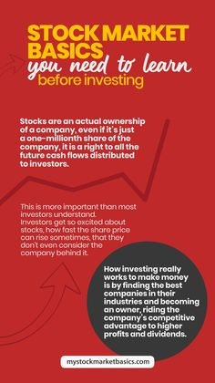 Know How Stocks Work and What to Consider Before Buying Stocks That Make More Money! #pinterest #warrenbuffet #success #successful #billgates #tesla #elon #work #grind #goals #rich #millionaire #billionaire #cash Stock Market Basics, Stock Market For Beginners, Investing In Stocks, Real Estate Investing, Peer To Peer Lending, Work Grind, Money Trading, Investment Advice, Marketing Professional