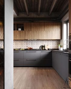 This city house in Minsk, Belarus, is 151m2 of modern loft style. Designed by VAE, the interior is decked out with metal and concrete industrial features, softe